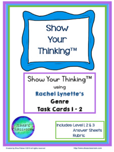 Genre Task Cards 1-2 %22Back to School%22 Freebie Images.001